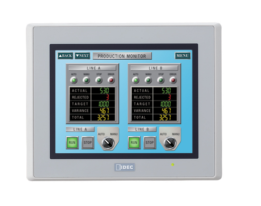 SADA: displej HG2G,Ethernet, USB, RS232/485/422, programovací kabel, software