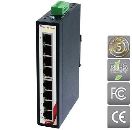 CA Průmyslový Ethernet switch 8 portový ETU-0800