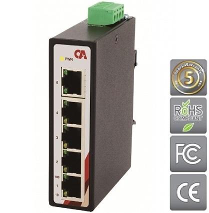 ERGATE Průmyslový Ethernet switch 5 portový CETU-0500-T