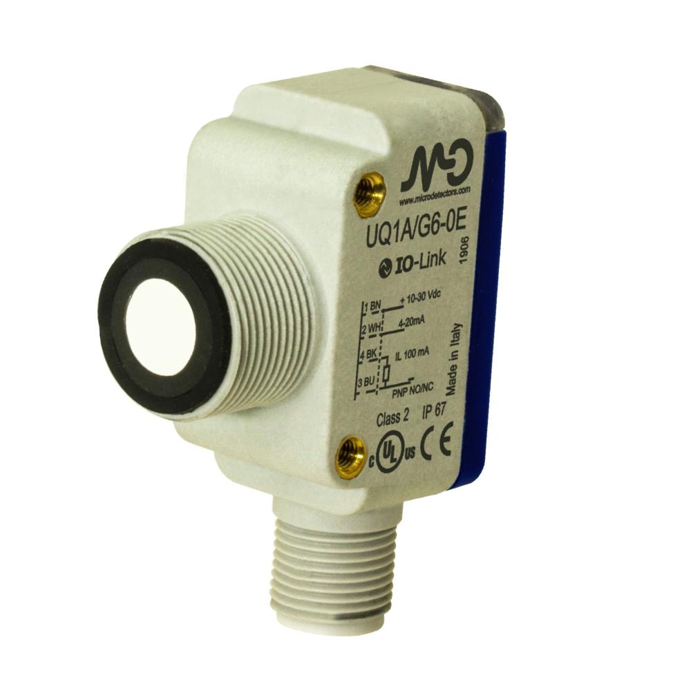 Ultrazvukový senzor, dosah 80-1200mm, konektor M12 UQ1D/G6-0E