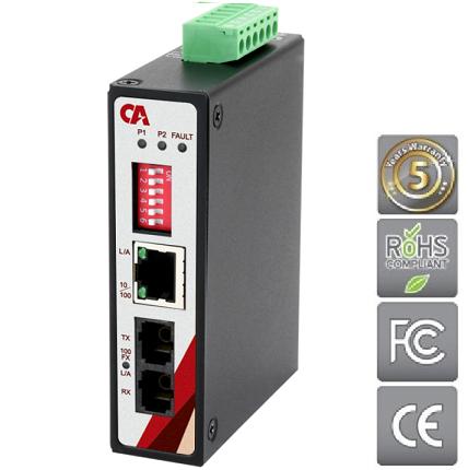 Průmyslový Ethernet switch METU-0201-ST