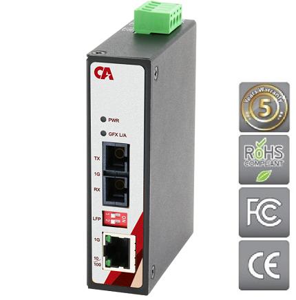 Průmyslový Ethernet switch MEGU-0201-S4 s připojením pro optický kabel