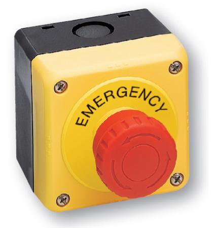 Nouzové tlačítko YW1B-V4E11R a box