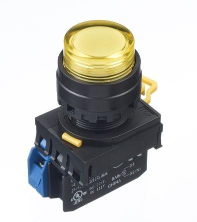 LED tlačítko YW1L-M2E10Q4Y