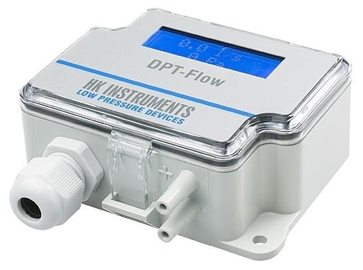 Snímač průtoku vzduchu, s displejem a automatickou kalibrací DPT Flow-2000-AZ-D
