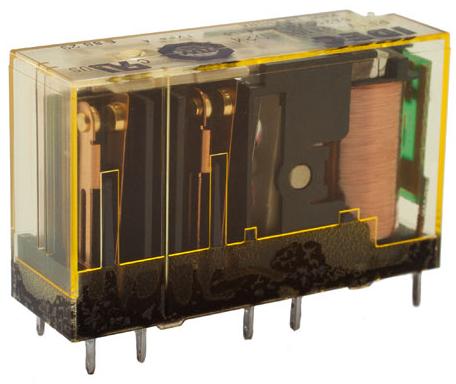 6pólové relé s nuceně spínanými kontakty RF1V-5A1BL-D24