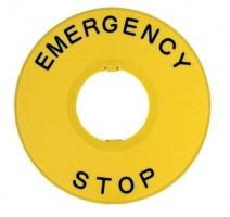 Kroužek pro nouzová tlačítka s průměrem 22 mm