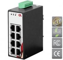 Průmyslový Ethernet switch 8 portový, dvouřadý CETU-0800