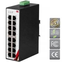 Průmyslový Ethernet switch 16portový ETU-1600